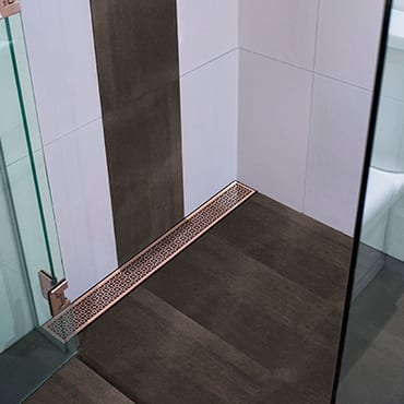 Close Up Of Rose Gold Shower Channel