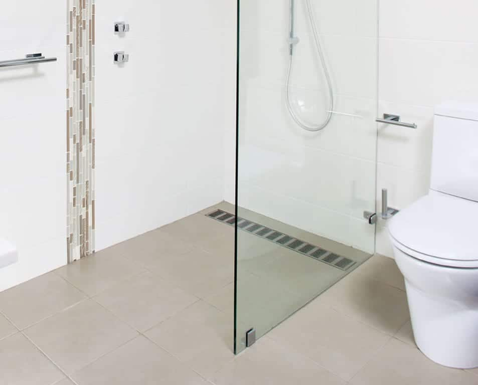 Shower With Silver Channel