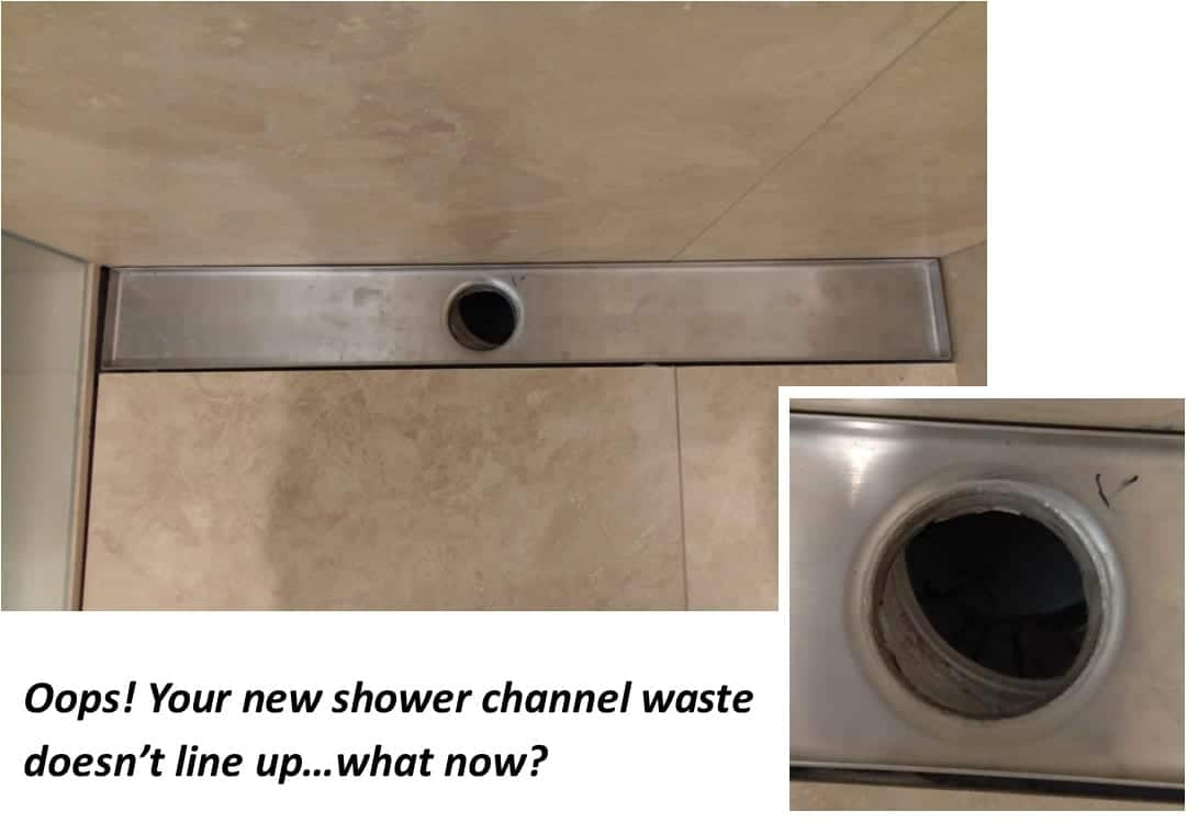 Misaligned Shower Channel