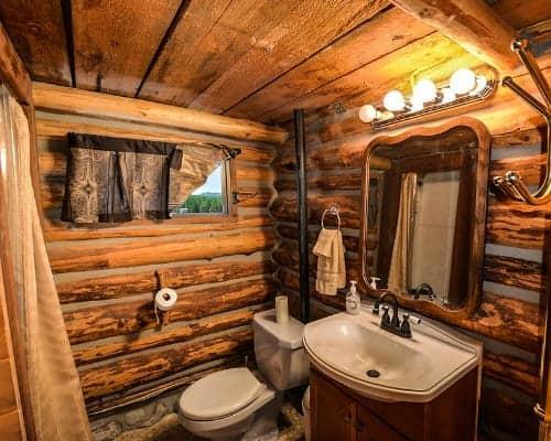 Log Cabin Bathroom