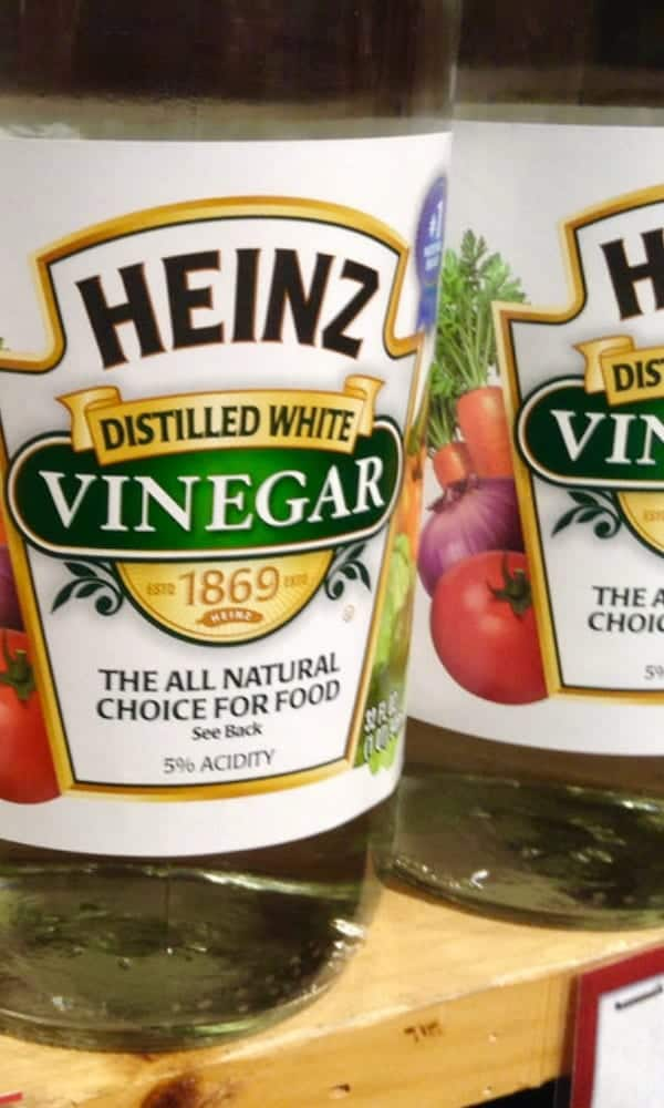 Vinegar for drain cleaning